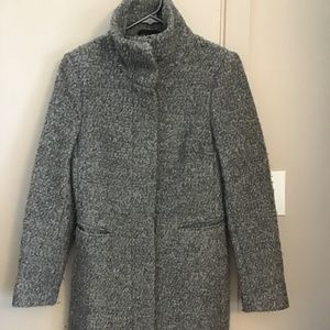 Grey wool blend coat from H&M